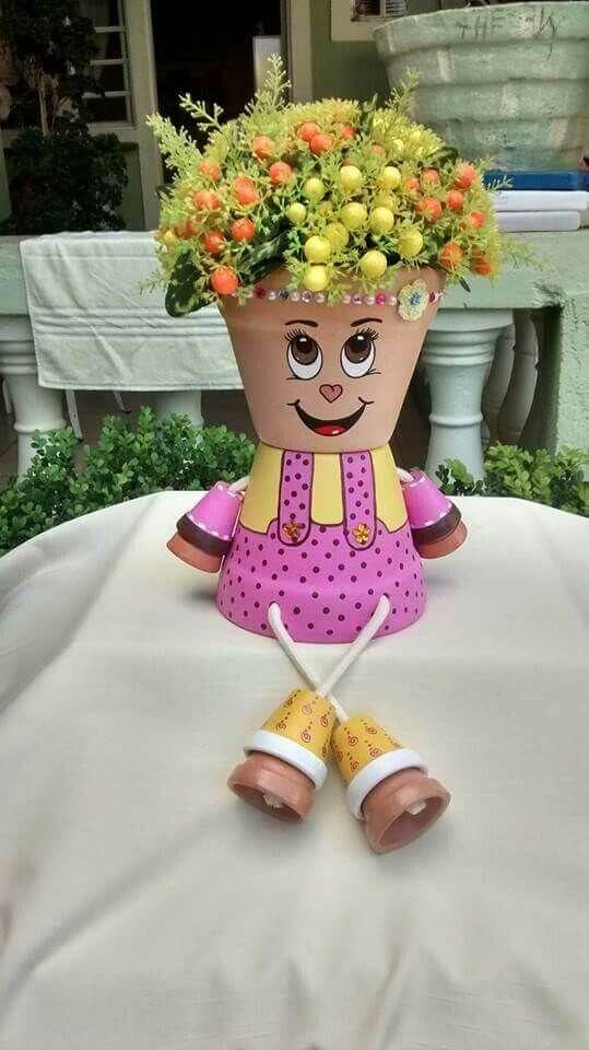 28 Spaß DIY Ton Blumentopf Handwerk, um Ihre Kreativität zu zeigen #flowerpot