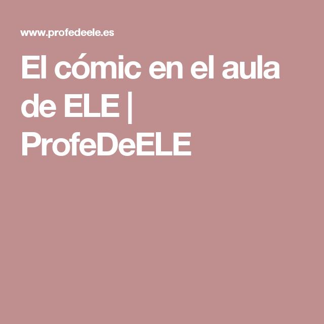 El cómic en el aula de ELE | ProfeDeELE