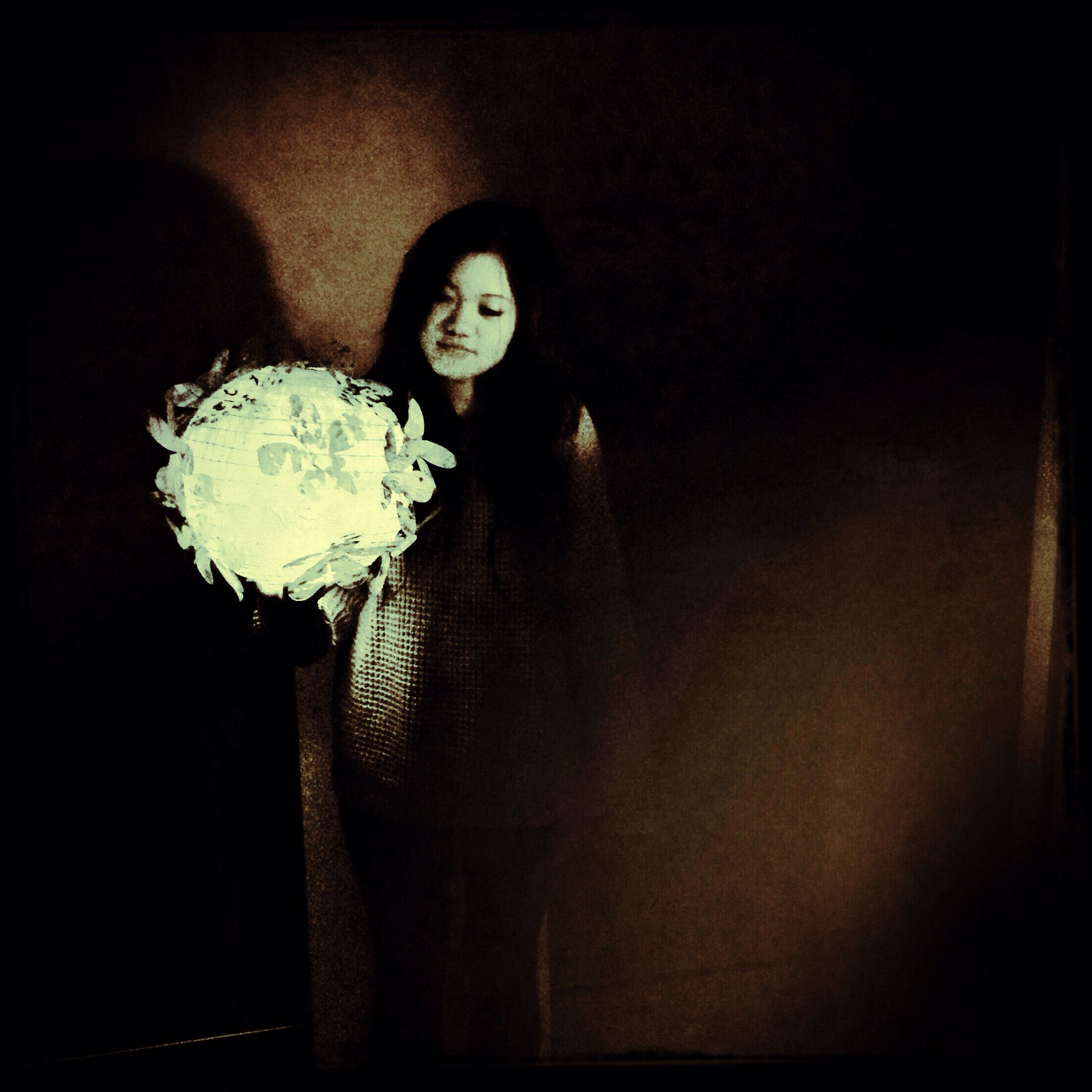 Flower paper lantern