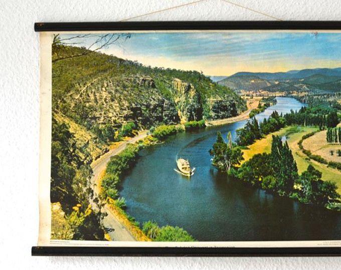 Tasmania print, Tasmania poster, landscape poster, old school poster ...