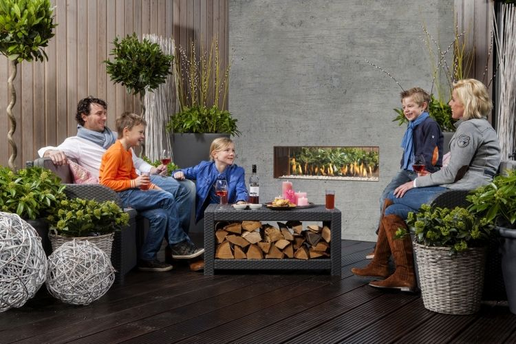 Gas-Feuerstelle The Mood zaubert eine behagliche Stimmung im Garten
