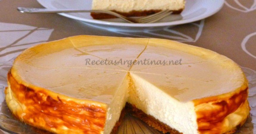 Tarta de Queso New York CheeseCake Recetas Argentinas
