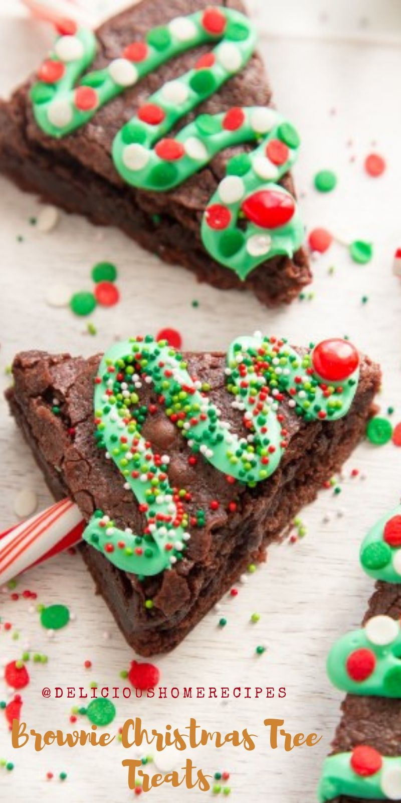Brownie Christmas Tree Treats christmas cookies