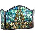 Chloe Tiffany Style Victorian Design 3-panel Fireplace Screen - 15709751 - Overstock - Great Deals on Decorative Screens - Mobile
