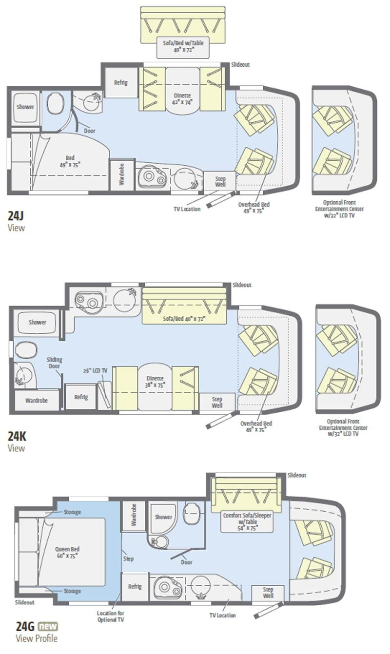 Winnebago view class c motorhome 2011 floorplans