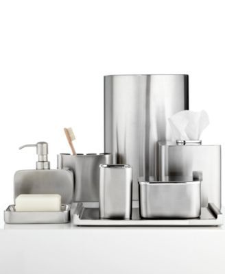 Hotel Collection Hotel Modern Brushed Stainless Steel Bath - Brushed stainless steel bathroom accessories