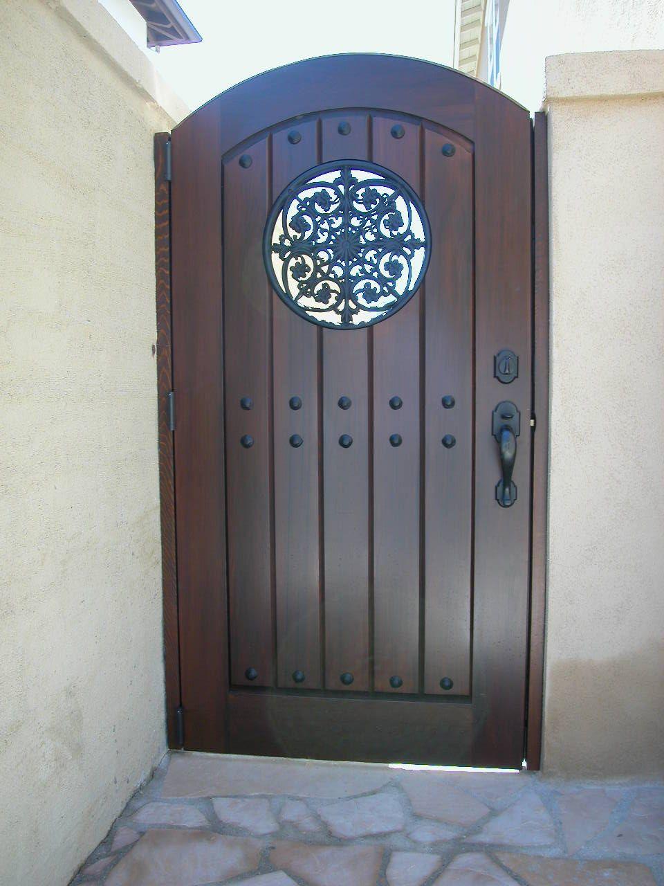 Custom Wood Gate by Garden Passages www.gardenpassages.com ...