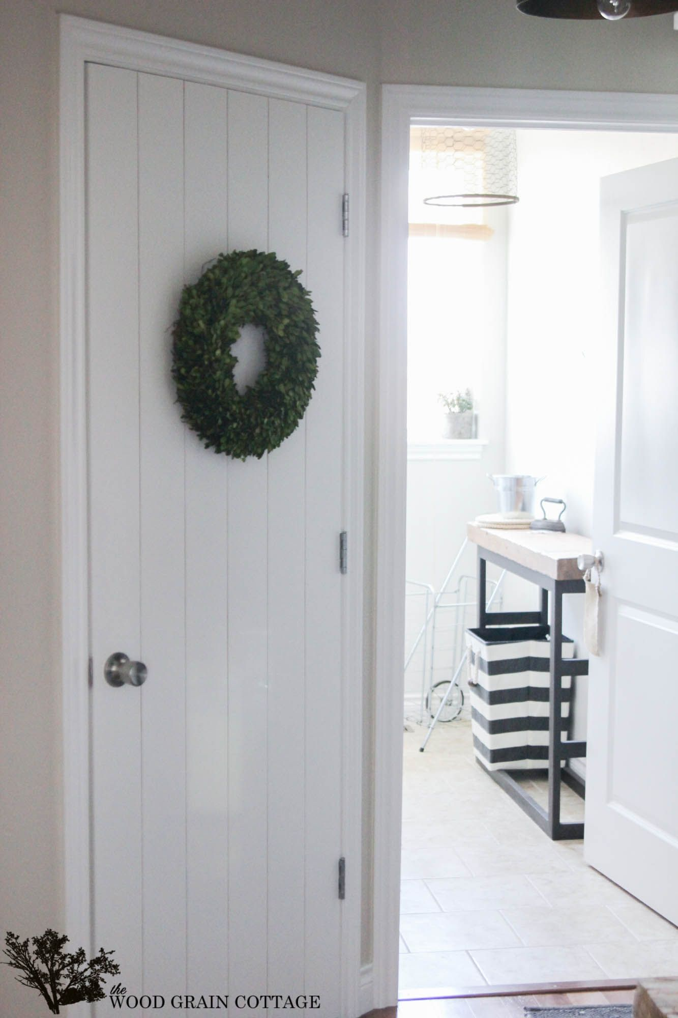 DIY How to Dress Up a Plain Luan Door - great beginneru0027s project shows how to turn a plain door into a rustic farmhouse door using underlayment - ia The ... & How to Wood Plank a Door | Wood grain Rustic farmhouse and Interior ...