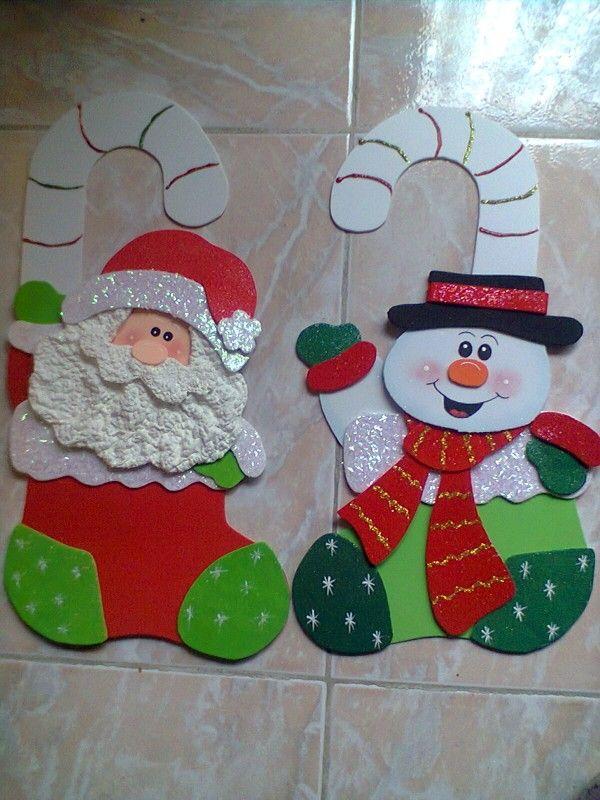 Pin de lourdes maria en natal pinterest navidad goma for Decoracion con goma eva