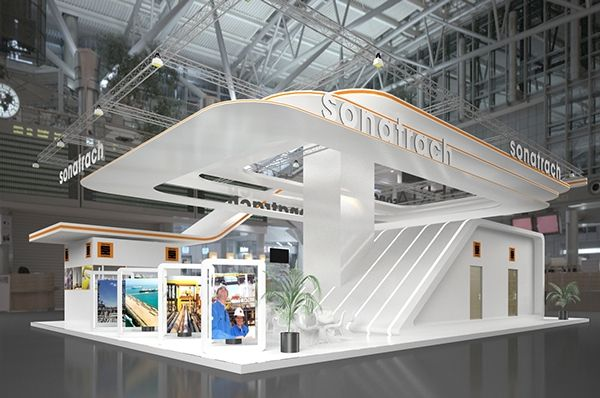 Exhibition booth design stands pinterest dise o de for Arquitectura y diseno stands 8 pdf