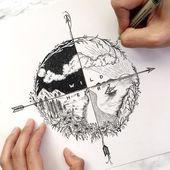 Photo of Minus Segelboot + mehr Wellen und ein Raumschiff am Nachthimmel, # Bleistift ……