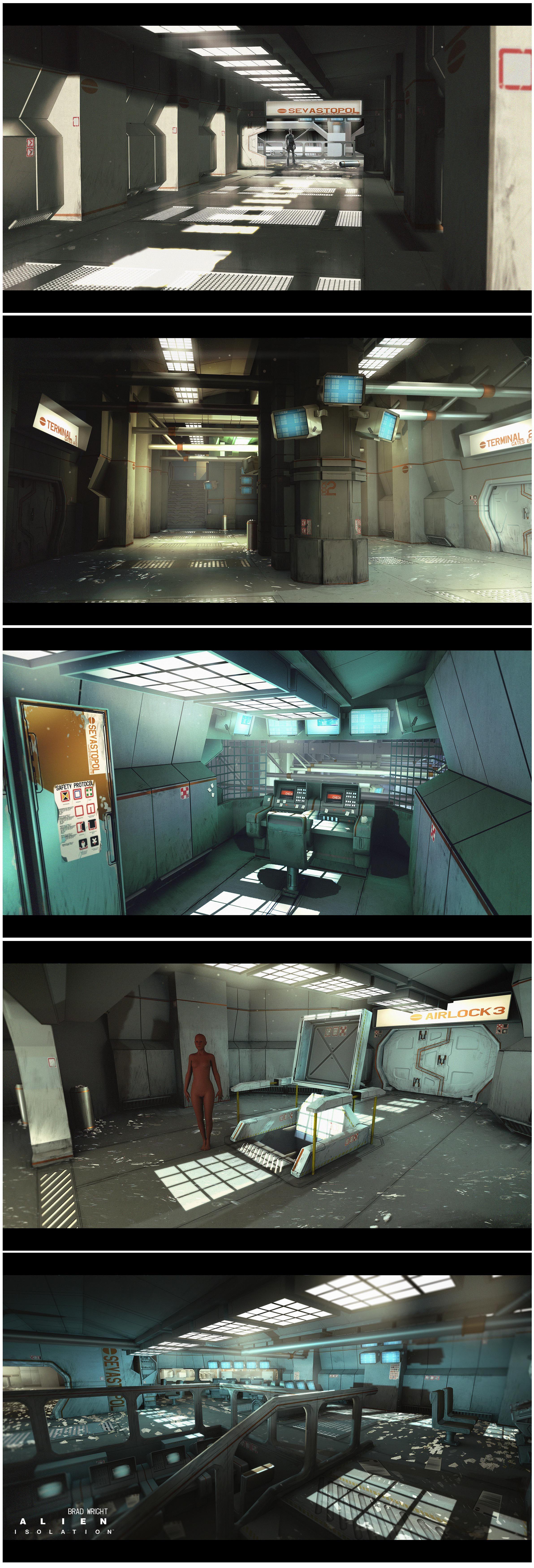 pingl par ulrick wery sur video game alien isolation arte conceptual arte et naves. Black Bedroom Furniture Sets. Home Design Ideas