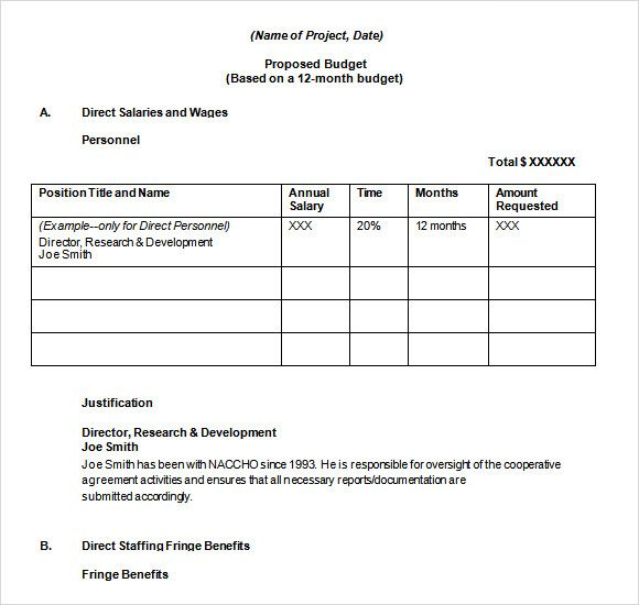 14+ Budget Proposal Templates Word, Excel  PDF Templates www