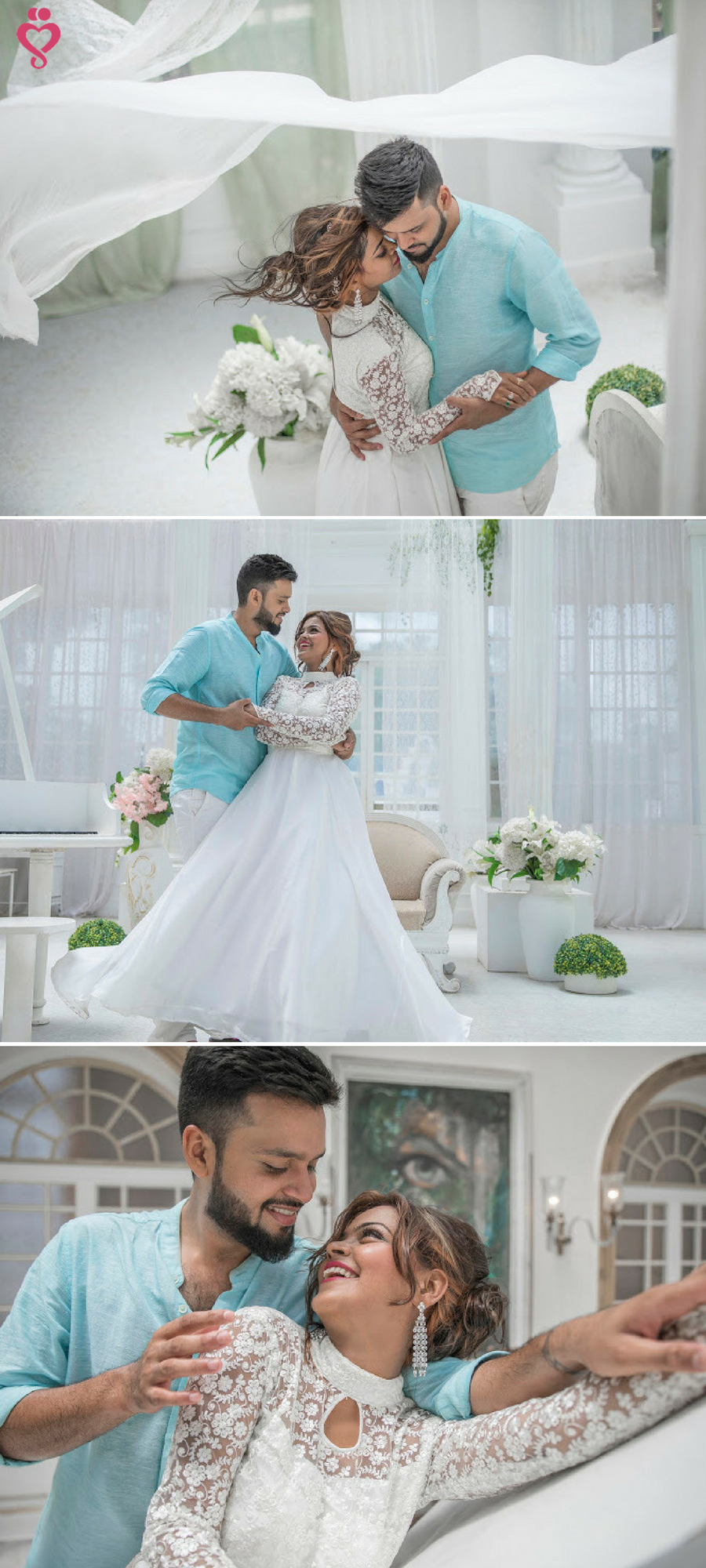 Love Story Shot - Bride and Groom in a Nice Outfits. Best Locations ...