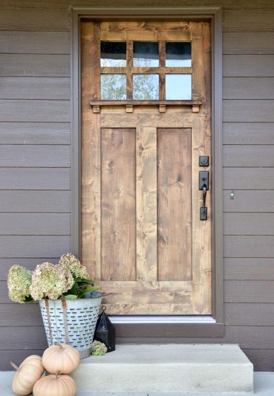 24 Wooden Front Door Designs To Get Inspired Doors Pinterest