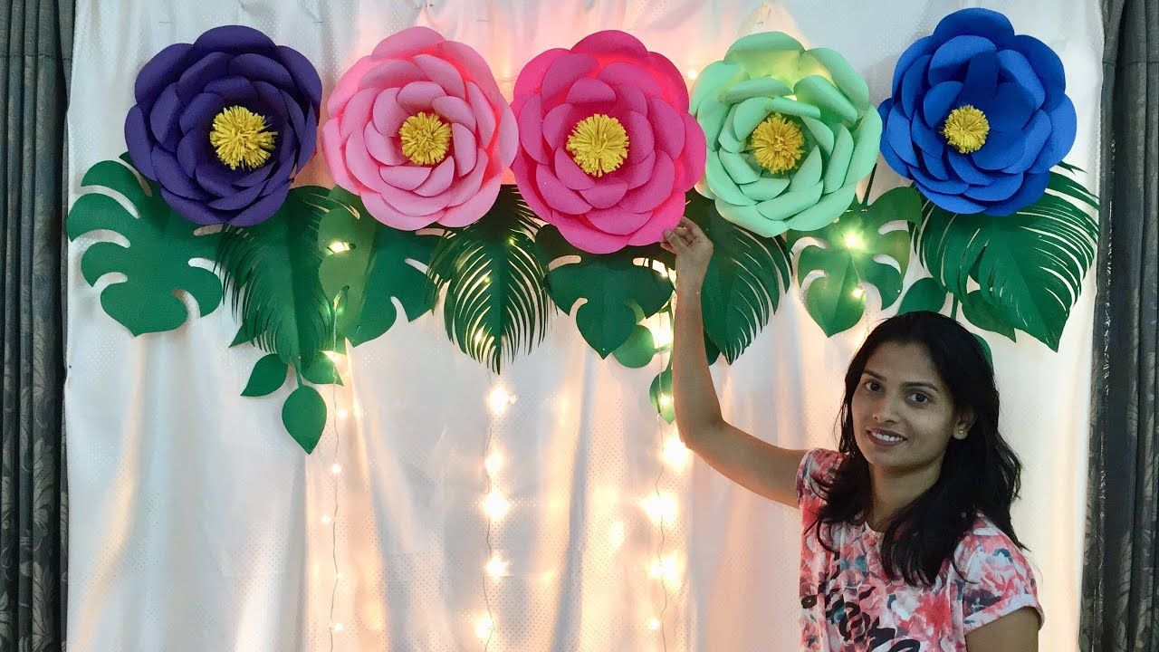 Floral Birthday Decoration At Home Paper Flowers Decoration For
