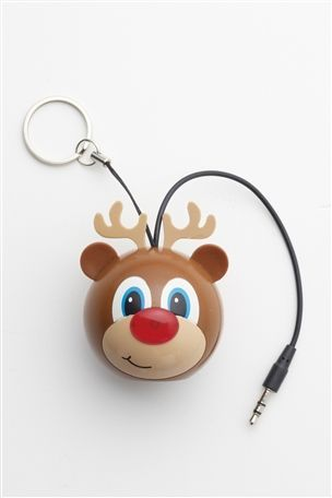 Rudolph Speaker With Light Up Nose