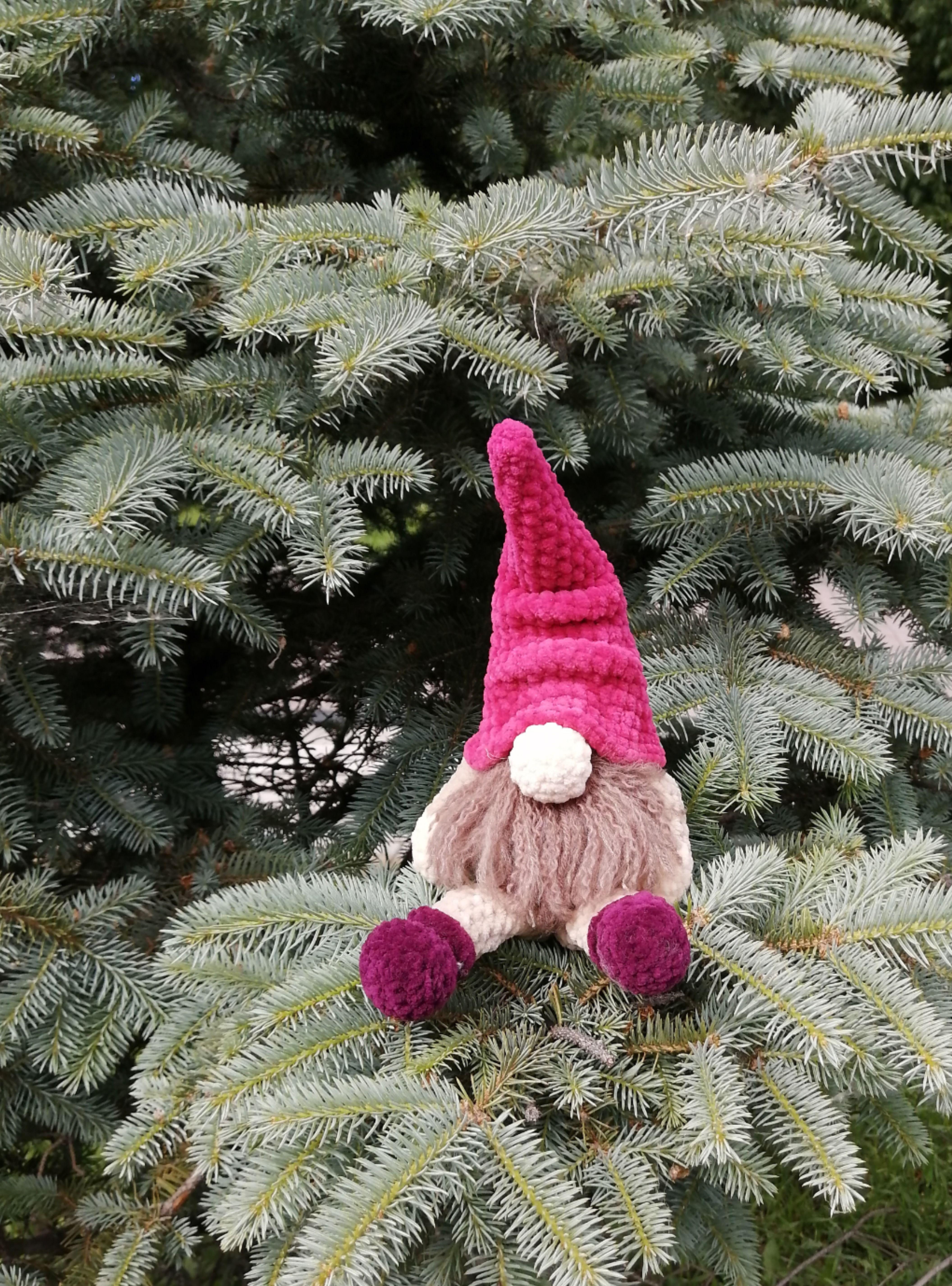 CROCHET PATTERN - Toy Dwarf Amigurumi Gnome Christmas Stuffed Doll handmade Simple Instructions