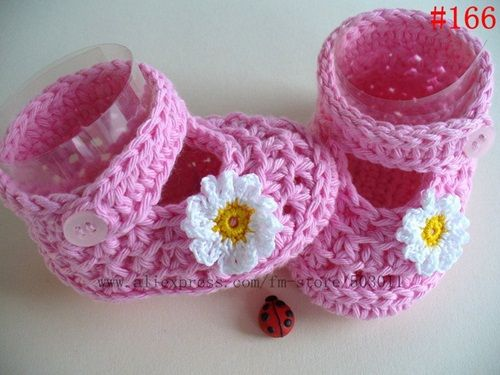 Zapatos tejidos a crochet para bebé (9) | Tejido | Pinterest ...