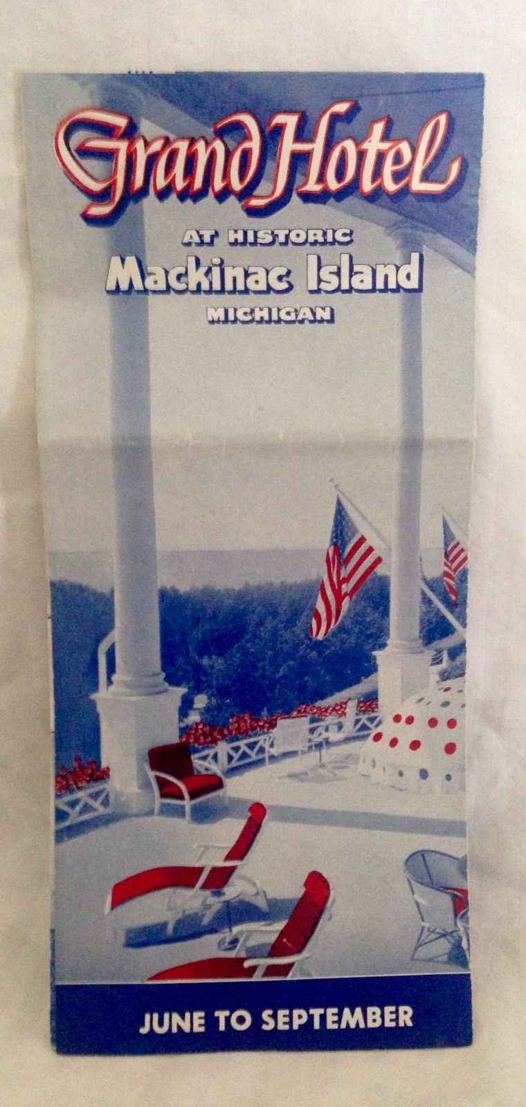 Vintage Michigan Travel Brochure -- Grand Hotel Mackinac