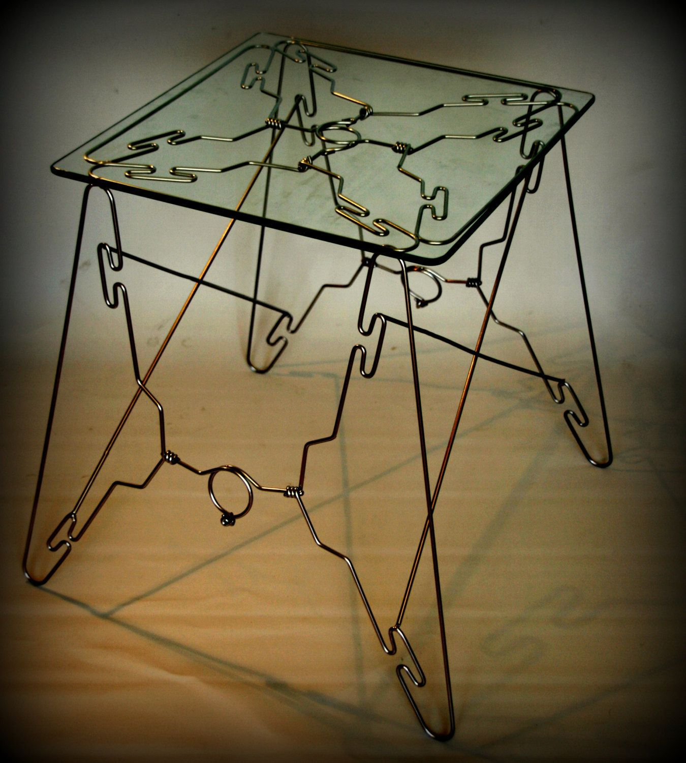 Exceptionnel Small Side Table, Coffee, Iron And Glass,hangers Table,bedroom Side  Furniture, Handmade ,peace Of Modern Art, Inspired Design Lifestyle