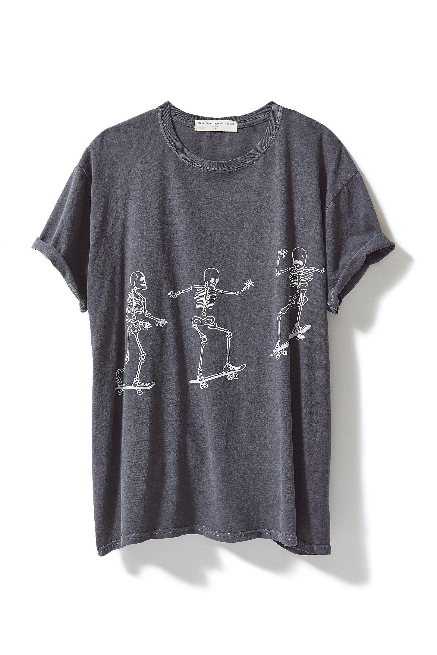 18cf6eb356fa Slide View: 5: Project Social T Skateboard Skeletons T-Shirt Dress