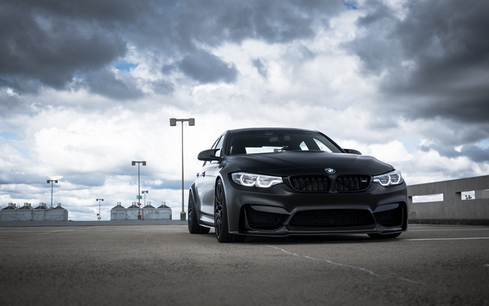 Download Wallpapers Bmw M3 F80 2018 Exterior Black Matte M3 Front View Black Wheels Tuning M3 Sports Cars Bmw Besthqwallpapers Com Bmw M3 Bmw Bmw M3 F80 Black