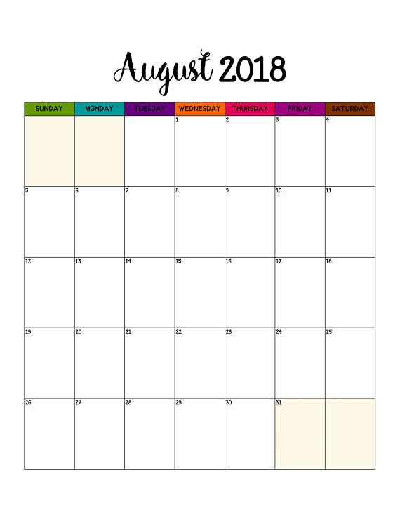 Monthly Calendar Printable  Portrait Wall Calendar   Best