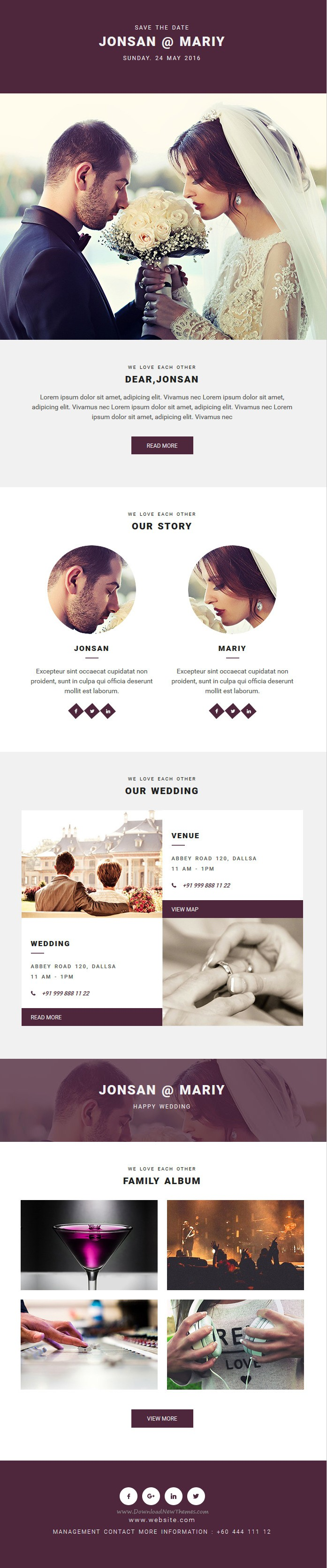 wedding invitation template themeforest%0A Buy WeddingEmail Template with MailChimp and Campaign Monitor Editable    Stampready Builder by rsacreative on ThemeForest  WeddingEmail Template  with