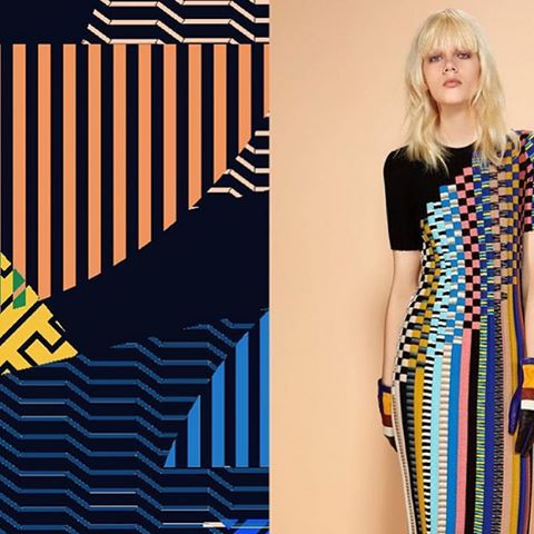 Missoni pieces come in inlaid, woven or fringed knit. Enlivened with stripes, bands, squares, zigzags, series of blocks (horizontal, vertical and diagonal), our new Fall 2016 collection inspired the work of @amelia_graham_print See the collection in full on missoni.com or thru link in bio #missoni #fall2016 #reigningonknitwearsince1953