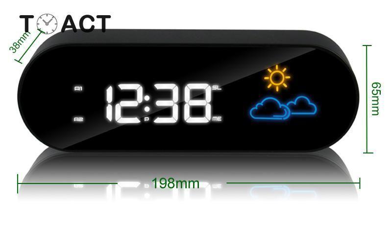 Radio Alarm Clock Led Digital Electronic Clocks Colorful Weather Forecast Display Desk Table Alarm Watch Bedroom Office Decor In 2020 Alarm Clock Radio Alarm Clock Clocks Colorful