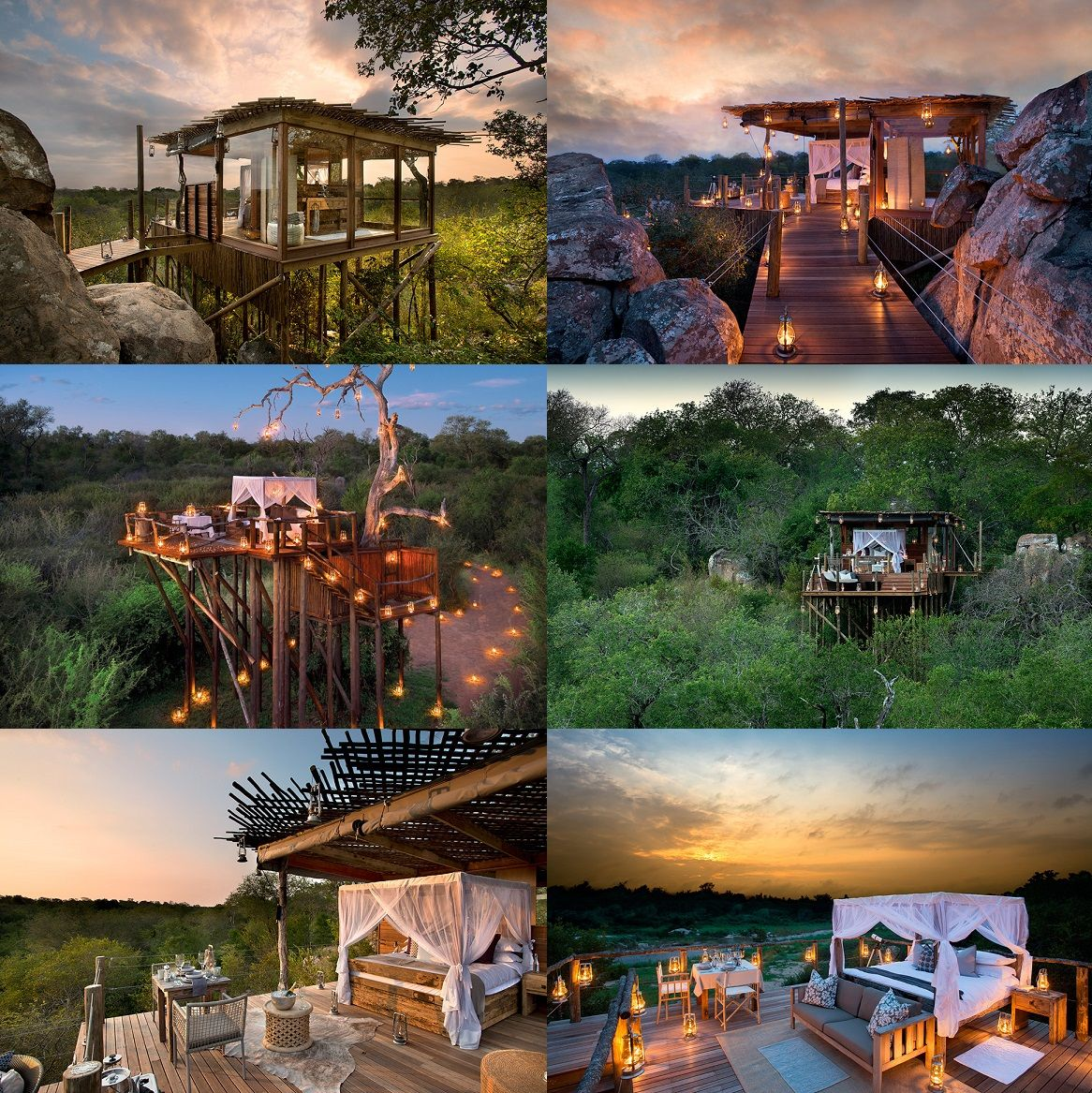 Lions Sands Game Reserve Treehouse's, South Africa South