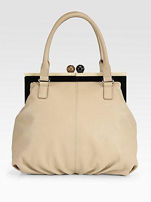 Kate Spade New York Bixby Leather Kiss Lock Bag Bags Leather Purses And Handbags