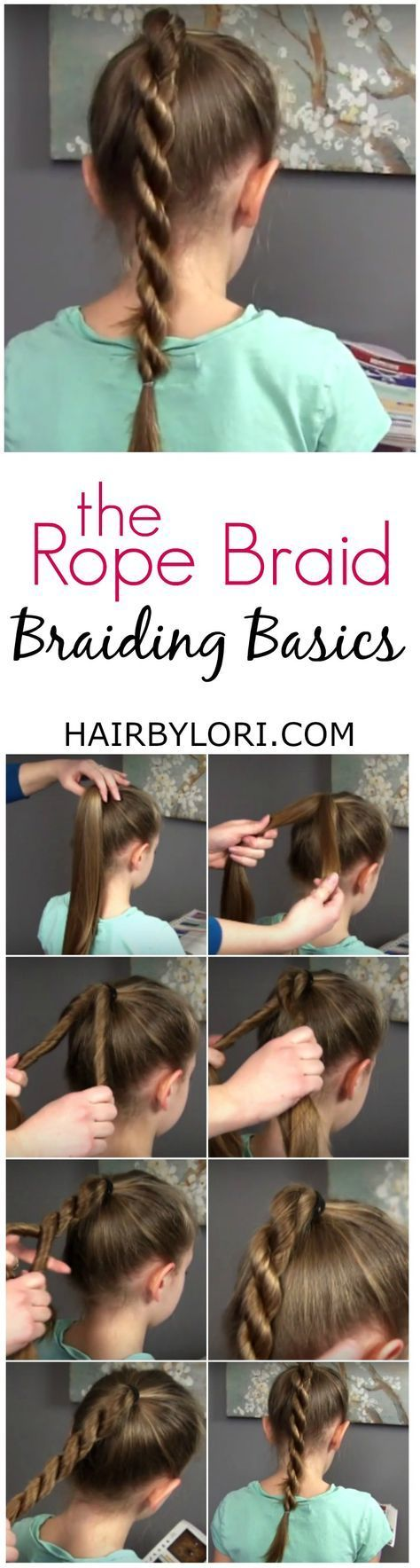 Easy tutorial video for the fun rope braid hair braid tutorials