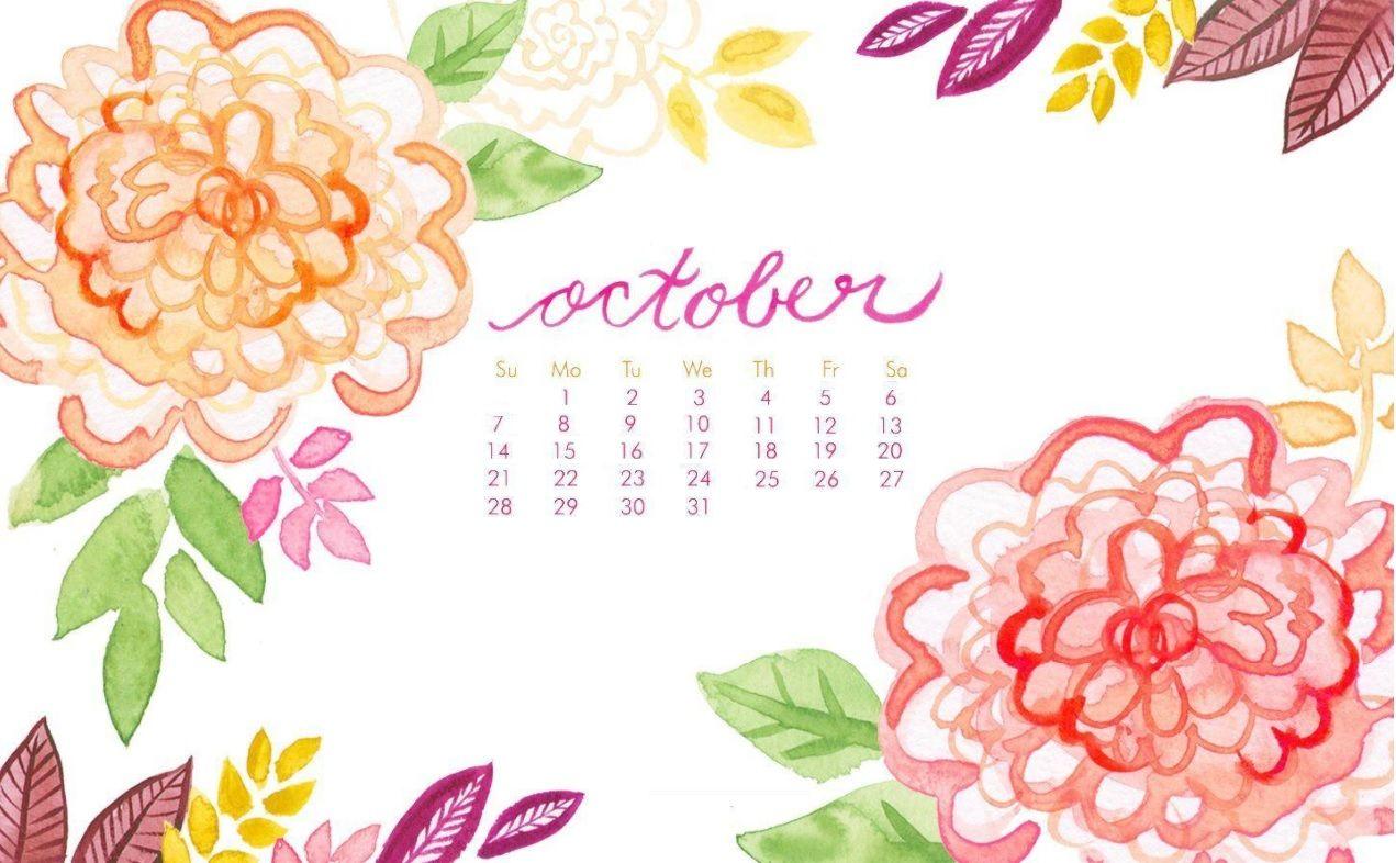 October 2018 Calendar Wallpapers Calendar wallpaper