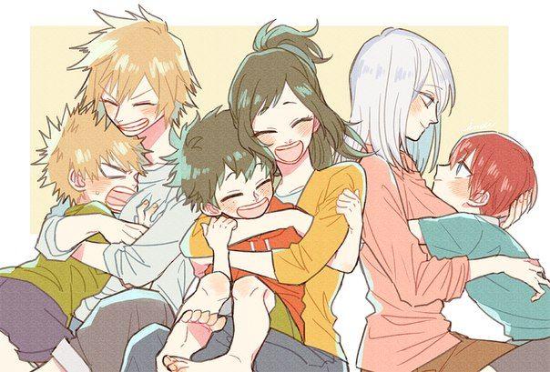 My Hero Academia - Bakugou, Midoriya, Todoroki & their moms