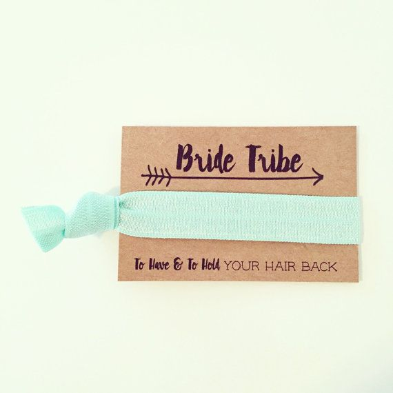 Bride Tribe Bachelorette Hair Tie Favor // Mint by LoveMiaCo