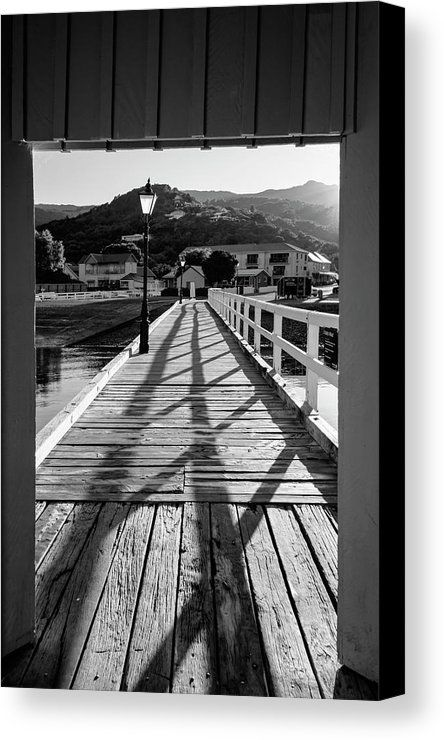 Akaroa new zealand pier bw canvas print by joan carroll all canvas prints are professionally printed assembled and shipped within 3 4 busines