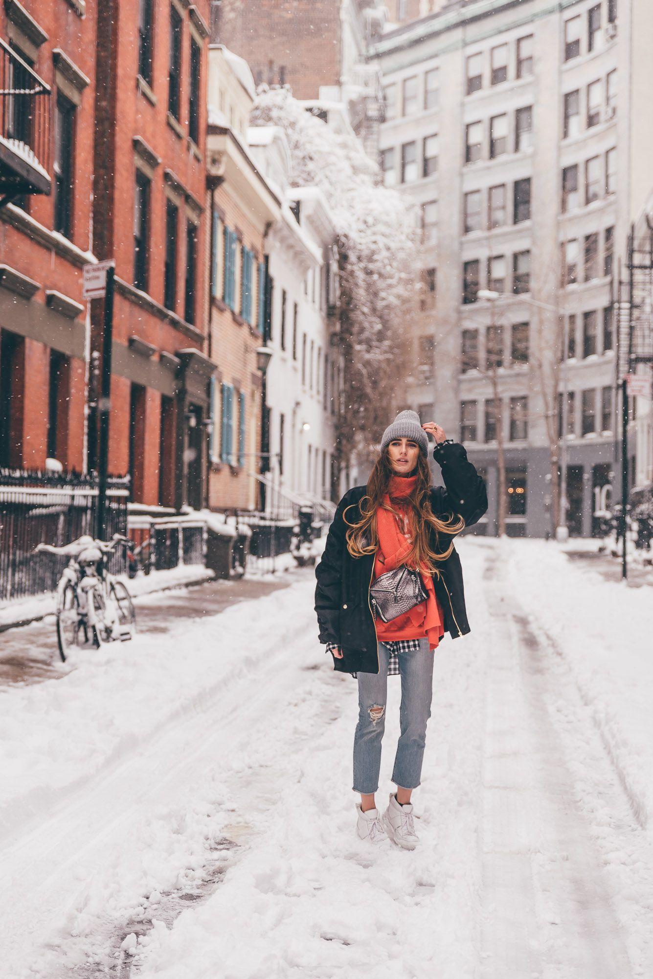 New York City Snow Storm Magic Lisa Fiege New York Winter Outfit Nyc Winter Outfits New York Winter Fashion