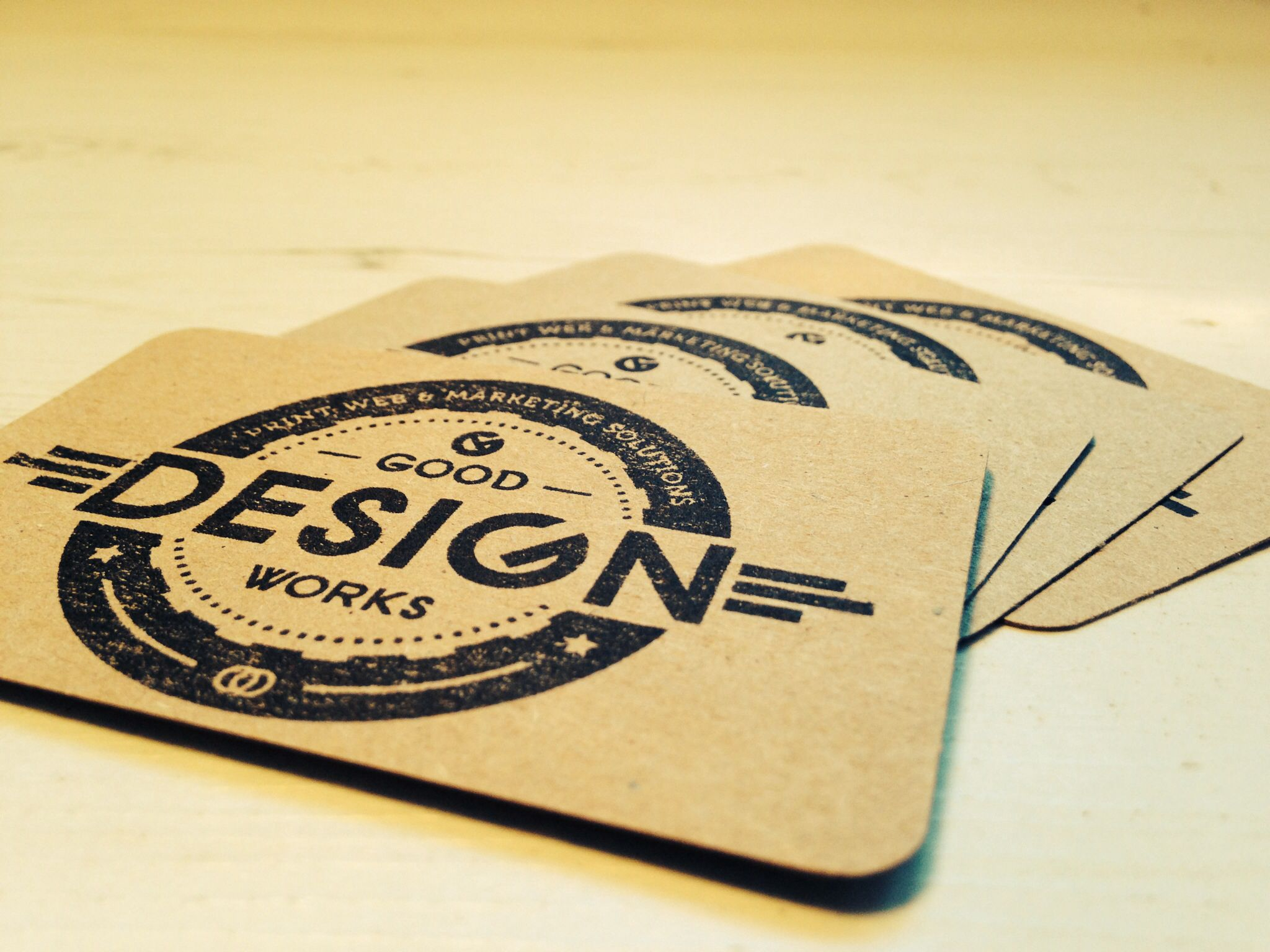 new business cards using recycled paper and stamps by good design