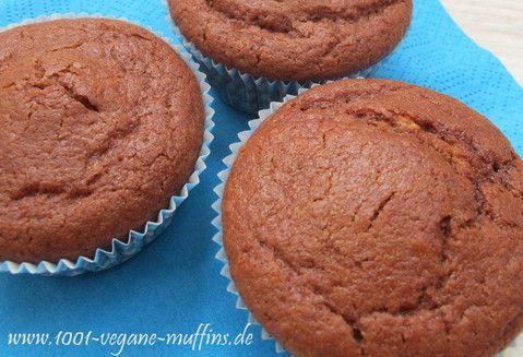 vegane Schokoladen-Kirsch-Muffins mit Zartbitterschokolade und Kirschsaft