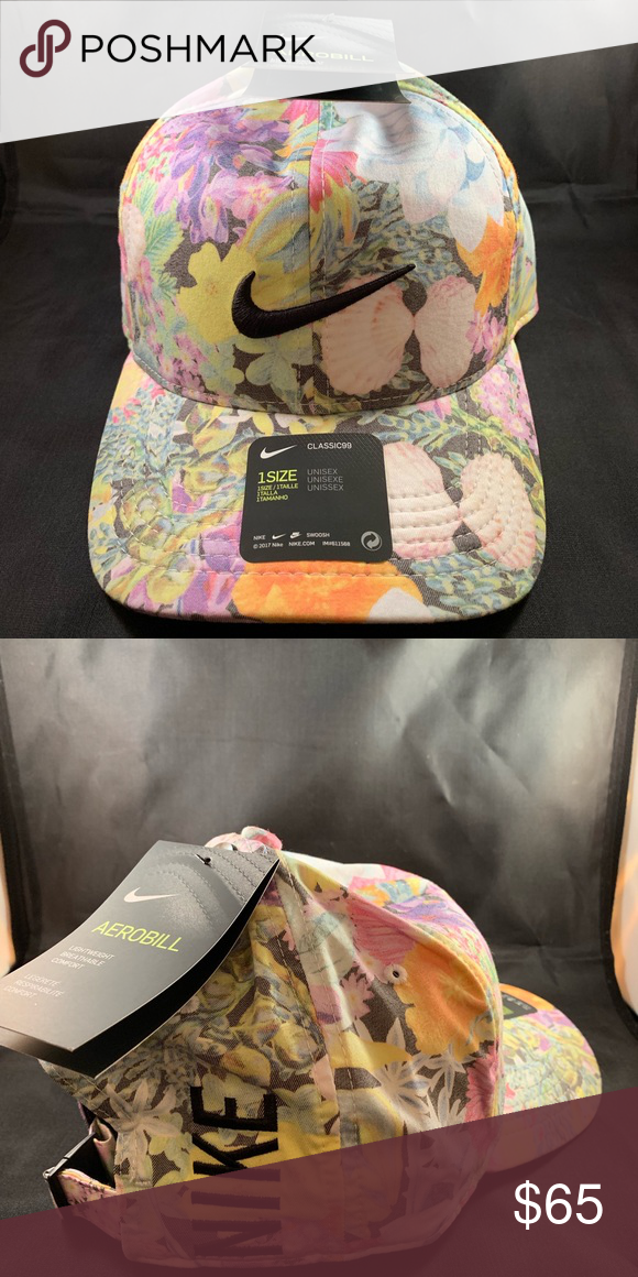 Nwt Nike Aerobill 99 Floral Hat Us Open Floral Hat Nike Accessories Nike