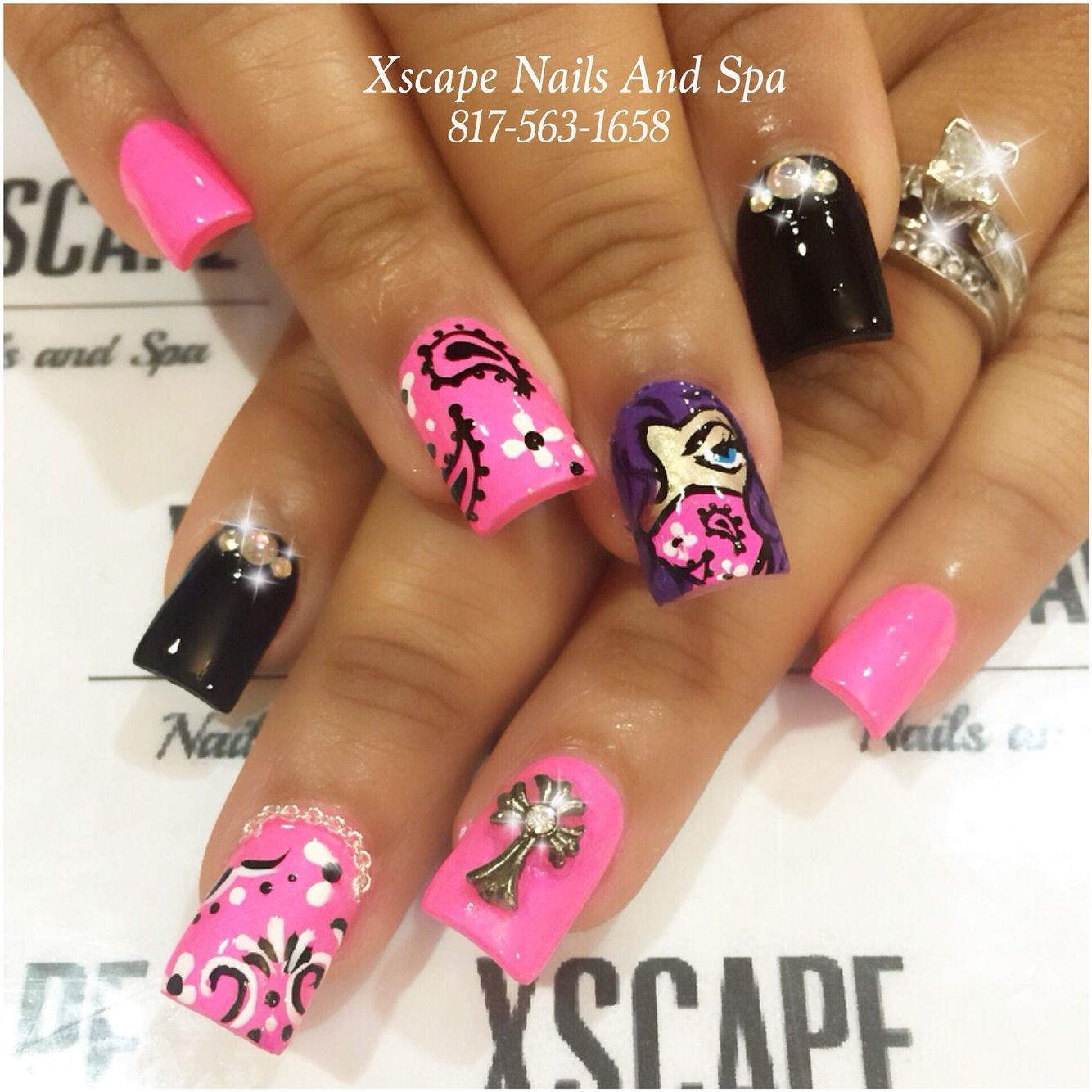Gangster Nails Cute Nails Designs Pinterest Gangsters Sexy