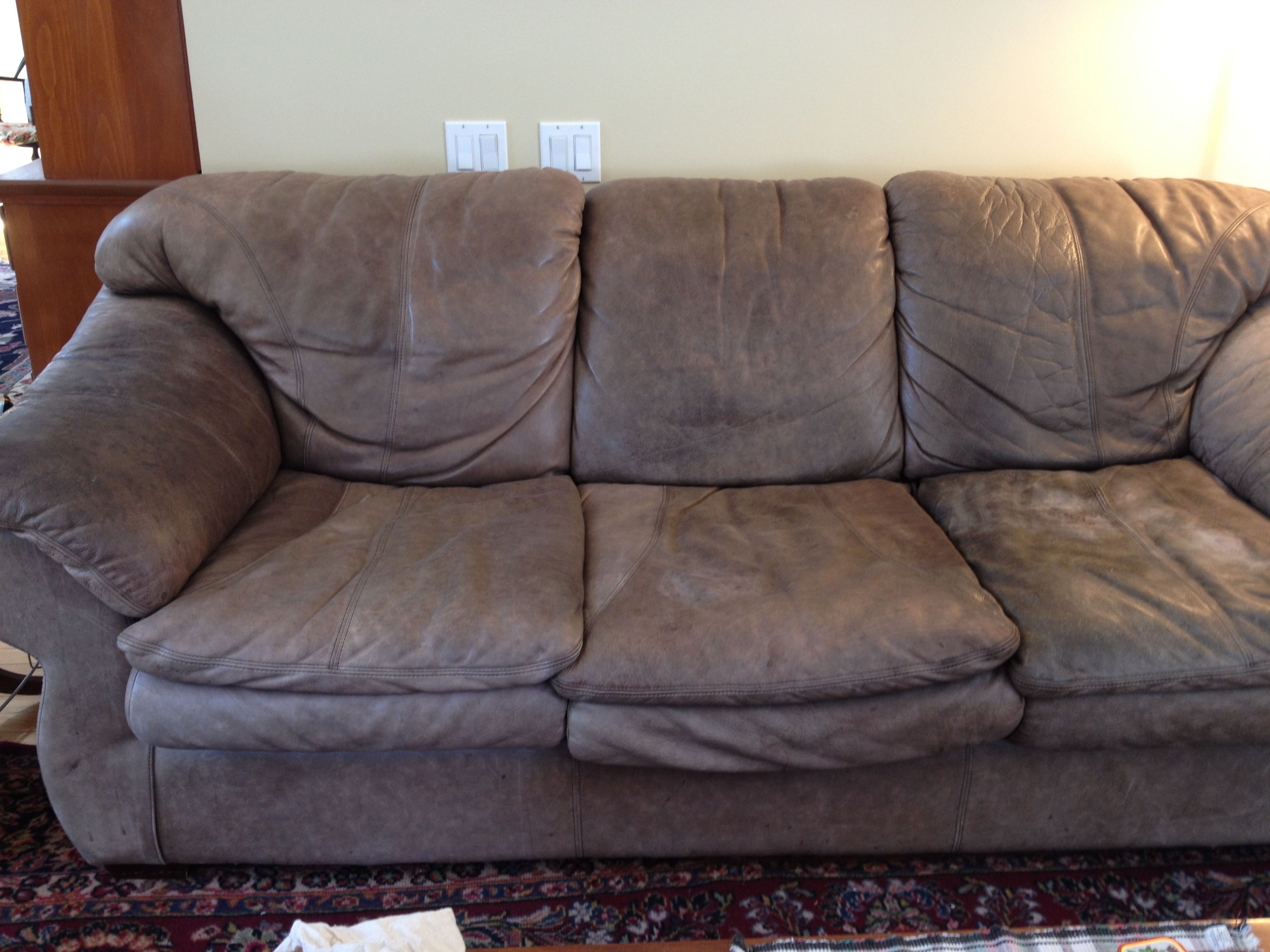 recover sofa cushions leg warehouse promo code a leather how to