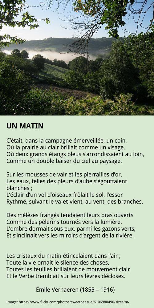 Verhaeren émile Poeme Nature Poeme Francais Et Poeme Et