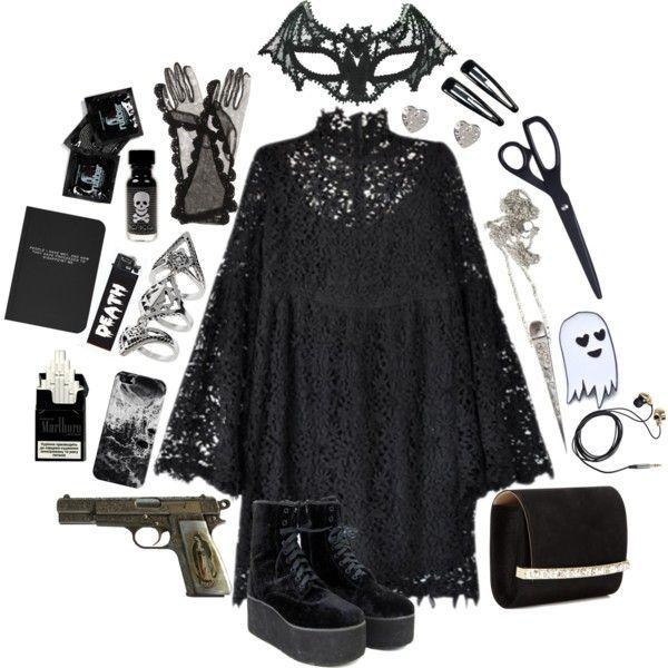 Outfit Inspiration: spooky trash #spookyoutfits