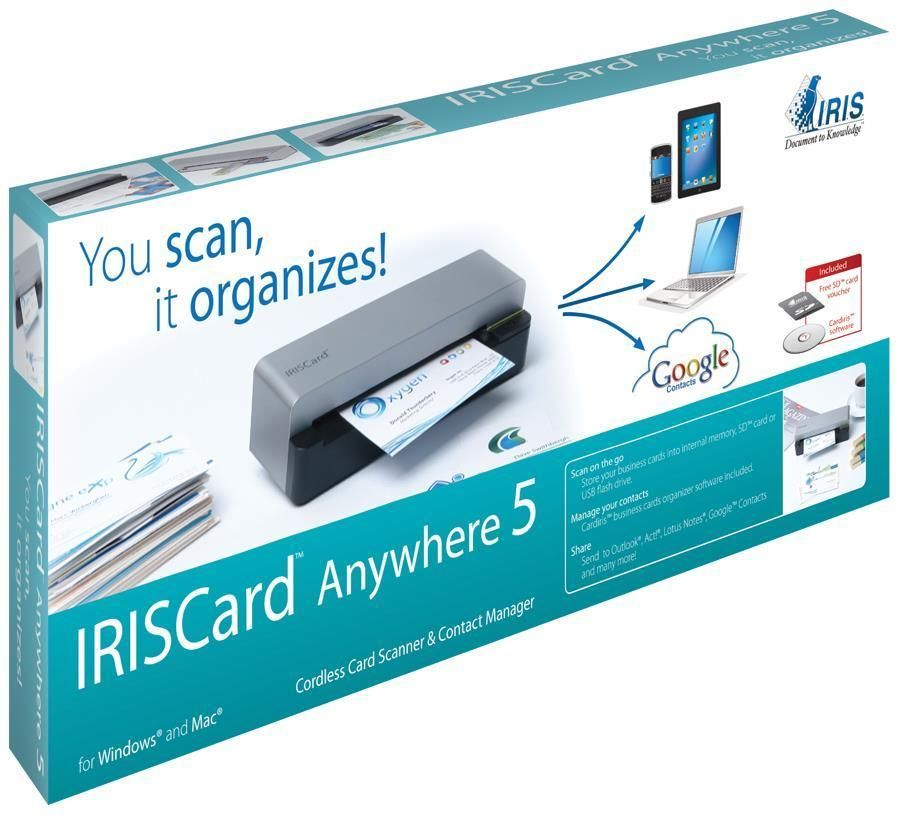 Iriscard anywhere 5 scanner iris scanner business card