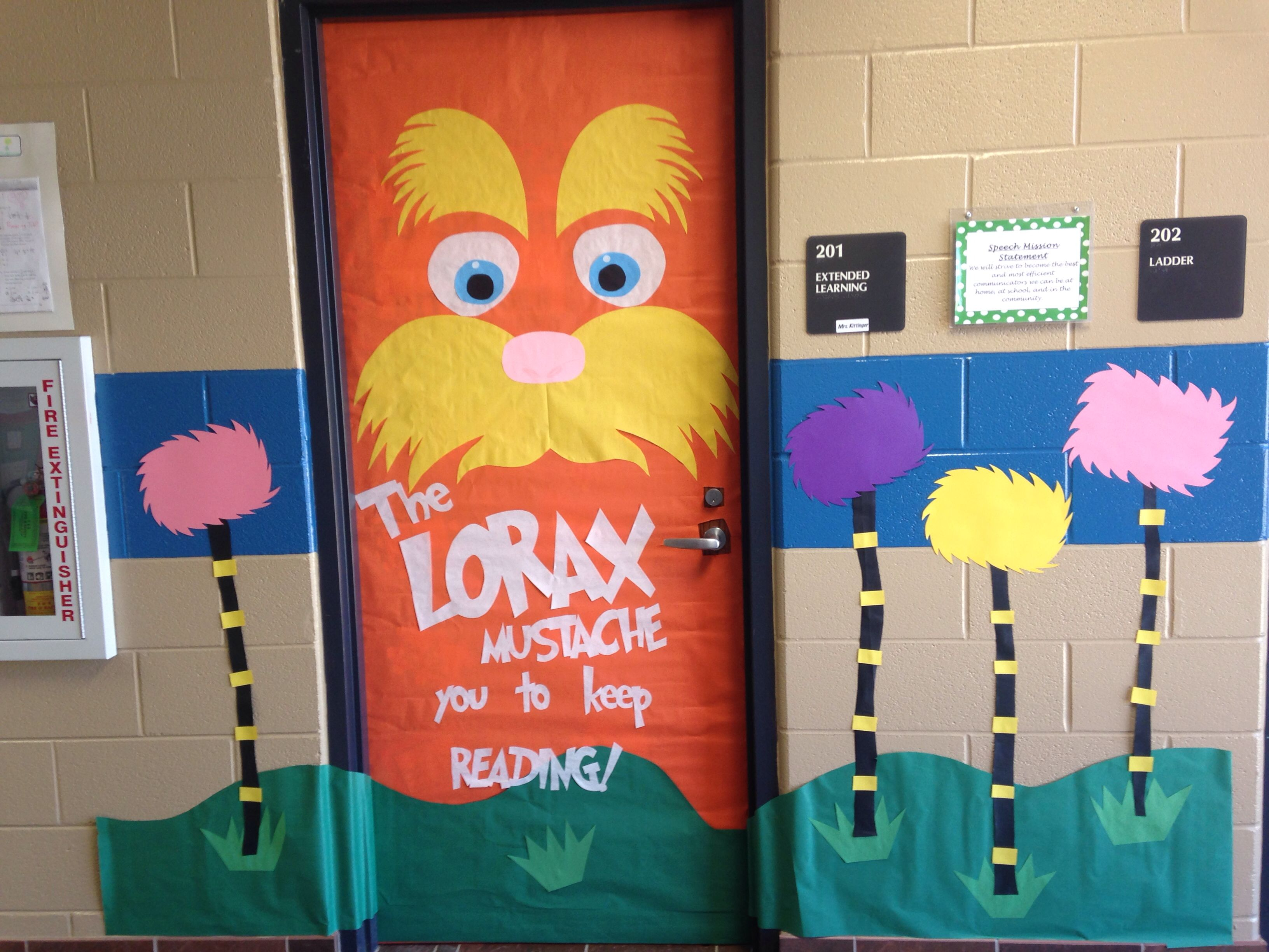 Lorax Door Decor! Dr. Seuss week!