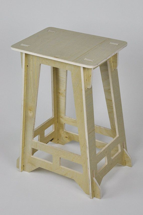 Deco Stool made from Birch Plywood by VincentEdwardsDesign on Etsy, $80.00