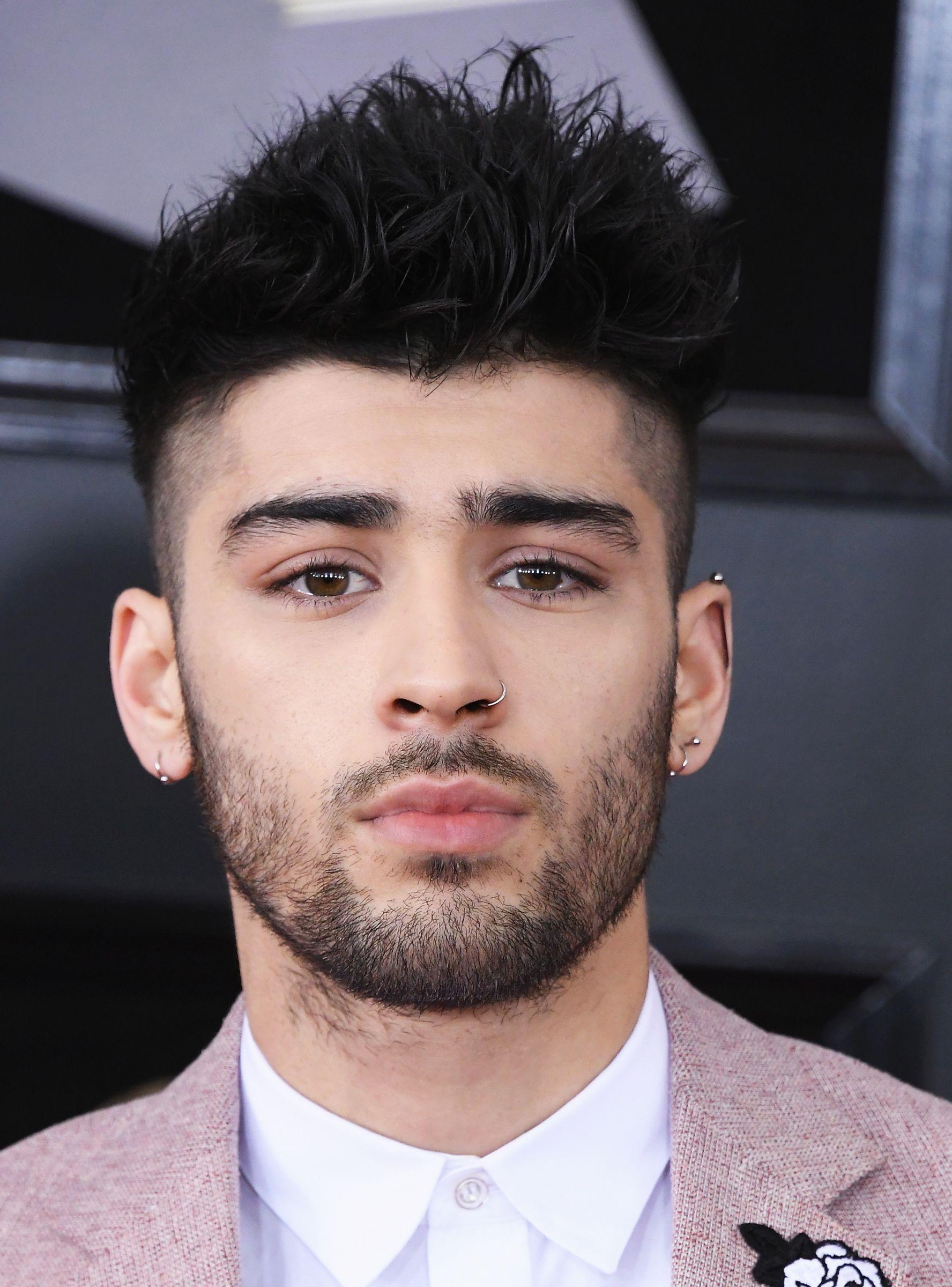 zayn malik bleached his hair & beard blonde — & he's